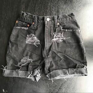 Vintage High Waisted Levi's Shorts